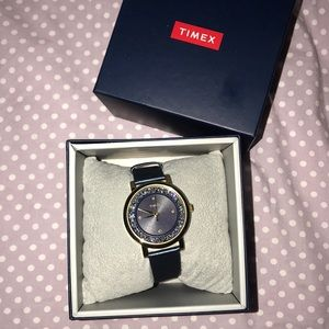 Navy and gold sparkly Timex Watch BNIB!